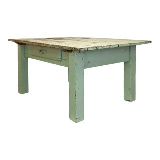 Rustic Vintage Side Table with Drawer For Sale