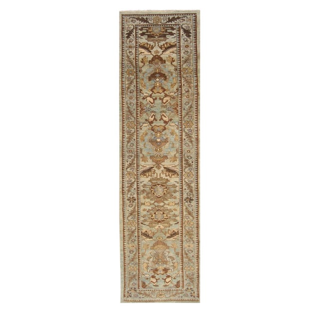 """Persian Sultanabad Rug - 3'2"""" x 13'9"""" - Image 1 of 10"""
