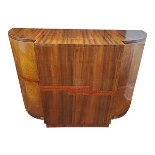 1930s French Deco Rosewood Veneer Commode For Sale