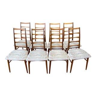 Danish Modern Koefoeds Hornslet Teak Ladder-Back Dining Chairs - Set of 8 For Sale