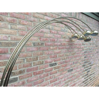 Contemporary Vintage Brass Five Arm Extended Arch Floor Lamp Preview