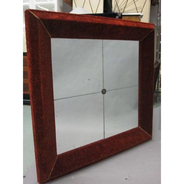 Venetian Antique Velvet Framed Mirror For Sale - Image 9 of 9