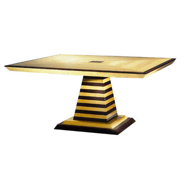 Brueton 1980s Mid-Century Modern Brueton Industries Sycamore Square Egypt Table Dining Table For Sale - Image 4 of 7