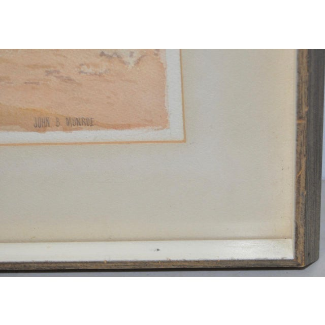 """Paint John B. Munroe """"Desert Tranquility"""" Watercolor c.1960s For Sale - Image 7 of 9"""