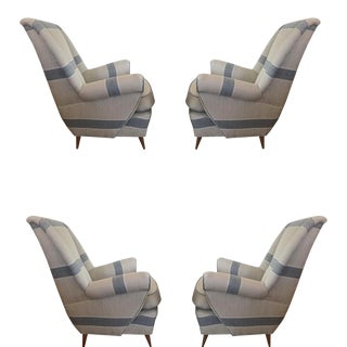 Mid-Century Modern Italian Lounge Chairs - Set of 4 For Sale
