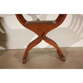 Anglo-Indian Savonarola-Type Brass Inlaid Armchair Preview