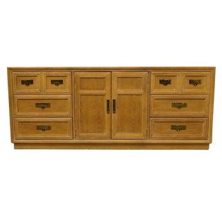 "20th Century Contemporary Stanley Furniture 72"" Triple Door Dresser For Sale"