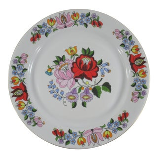 Kalocsa Hungary Hand Painted Porcelain Wall Plate Numbered For Sale