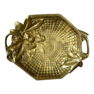 1940s Vintage Brass Acorn Tray For Sale
