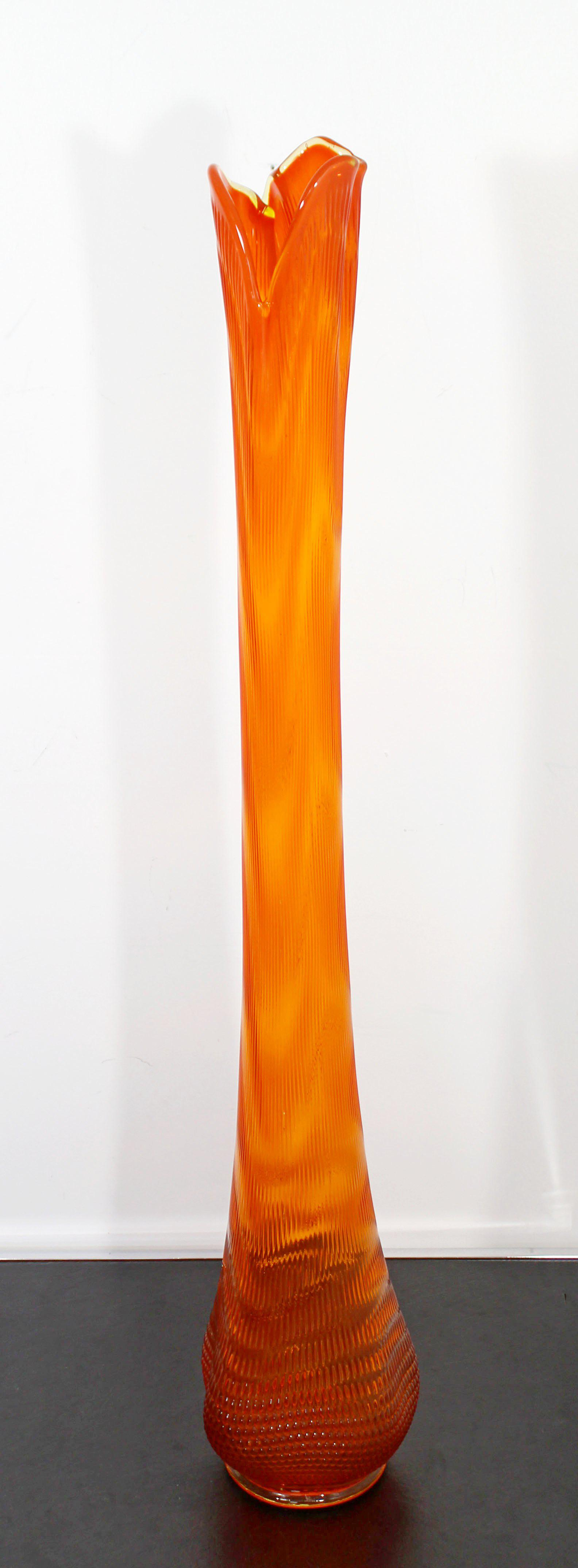 Incredible Mid Century Modern Massive Extra Tall Large Orange Viking