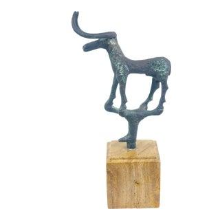 Brutalist Turkish Iron Ankole Watusi Bull Sculpture For Sale