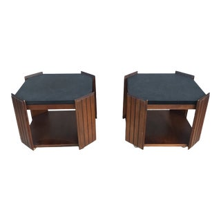 1960's Mid Century Modern Lane Side Tables - a Pair For Sale