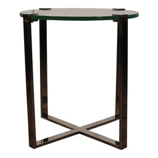 20th Century Contemporary Chrome Accent Table