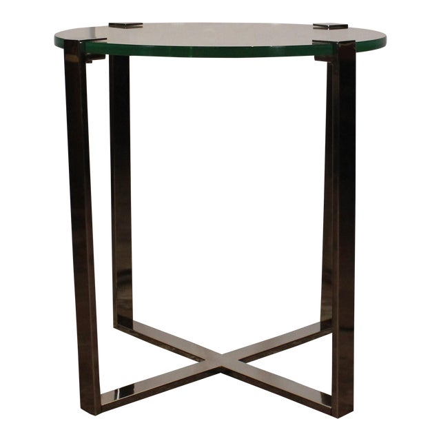 20th Century Contemporary Chrome Accent Table For Sale