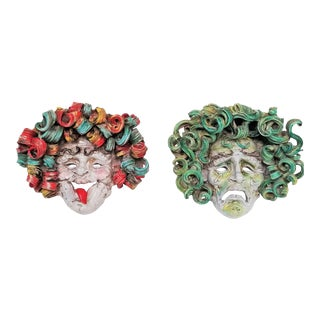 Vintage Pair of Wall Sculptures by Eugenio Pattarino For Sale
