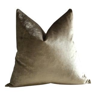 Scalamandre Silk Strie Velvet Pillows For Sale