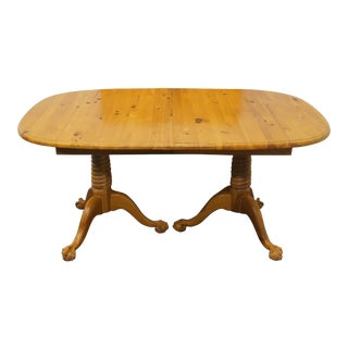 20th Century Traditional Link Taylor Pine Double Pedestal Dining Table For Sale