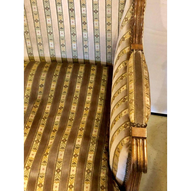 Maison Jansen Louis XVI Living Room Suite Couch and Two Lounge Chairs For Sale - Image 4 of 14