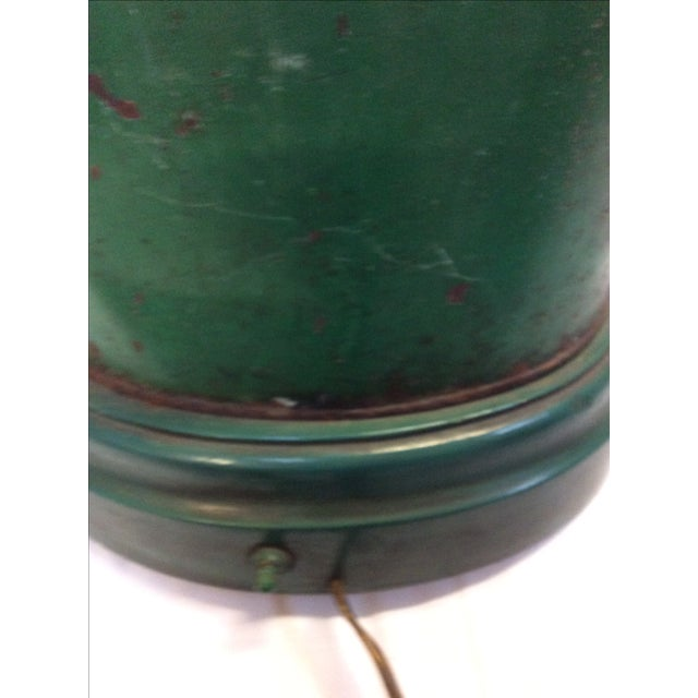 Green Antique English Tea Canister Lamp For Sale - Image 8 of 9