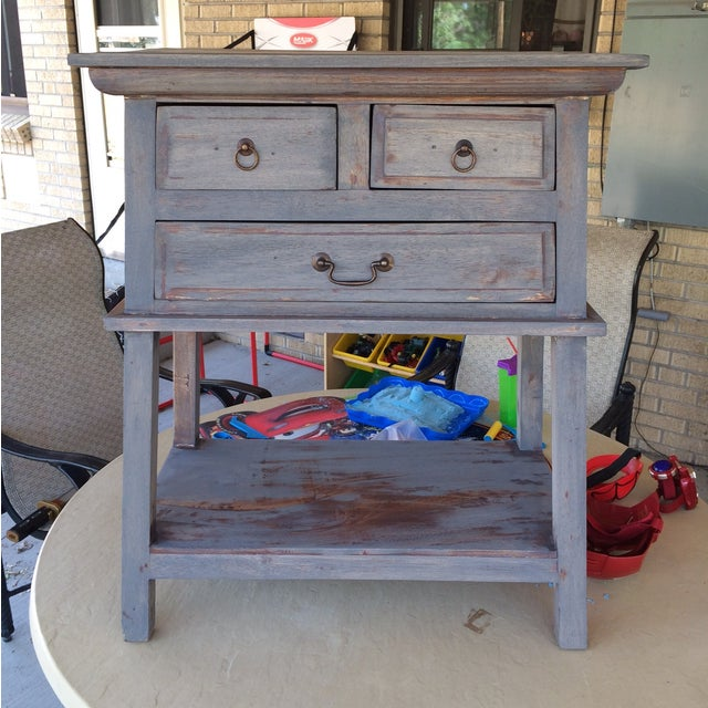 Refinished Three Drawer Entrance Table - Image 2 of 4
