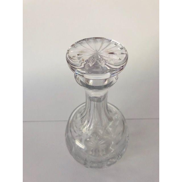 Traditional Vintage Atlantis Cut Crystal Decanter For Sale - Image 3 of 6