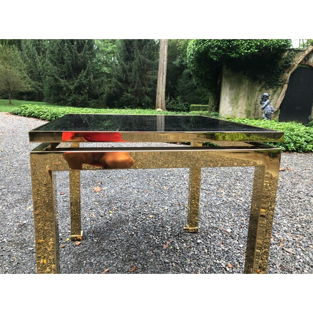 1970s French Maison Jansen Brass Occasional Table For Sale In New York - Image 6 of 12