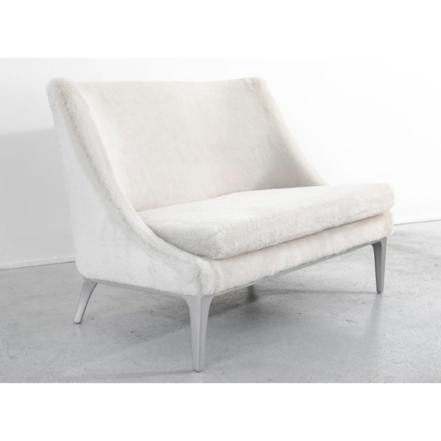 Faux Fur Settee by Lawrence Peabody - Image 4 of 10