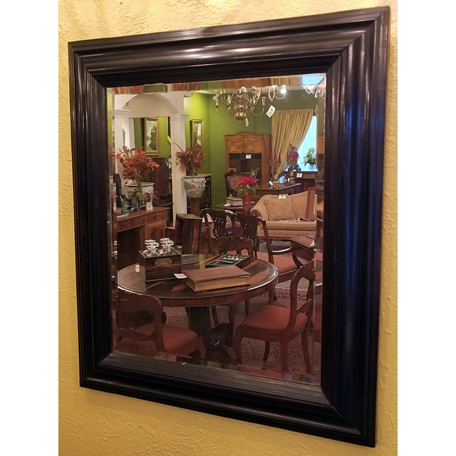 Americana 19th Century American Ebony Mirror With Beveled Glass For Sale - Image 3 of 6
