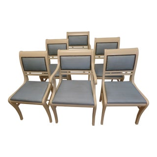 Vintage Neoclassical Style Dining Chairs - Set of 6 For Sale