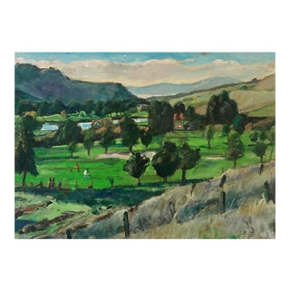 Vintage Oil Landscape For Sale
