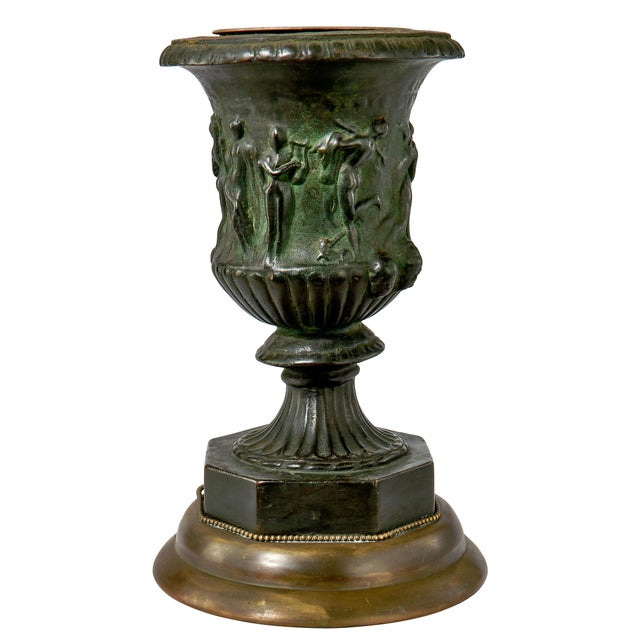 19th Century French Bronze Vase Converted Into a Lamp For Sale - Image 9 of 9