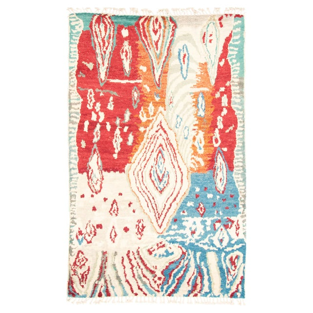 """Hand-Knotted Rug, 5'8"""" X 9'2"""" For Sale - Image 9 of 9"""