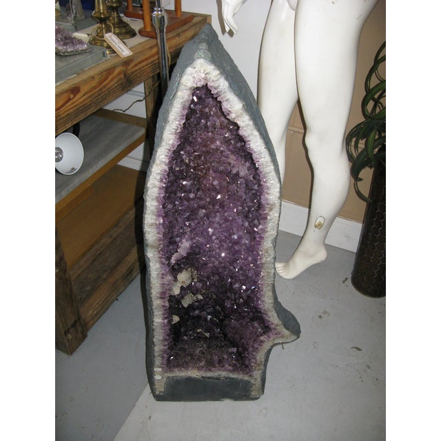 Amethyst Geode Large Crystal Cathedral Specimen For Sale In Charleston - Image 6 of 9
