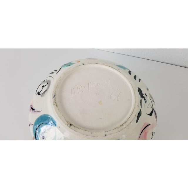 1988 Vintage Hand Painted Ceramic Bowl For Sale In Miami - Image 6 of 8
