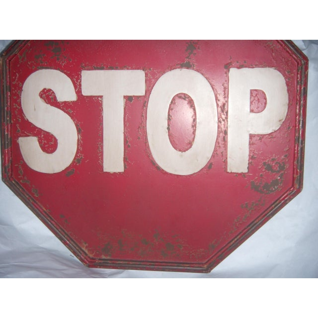 "Tin Retro ""STOP"" Sign - Image 4 of 5"