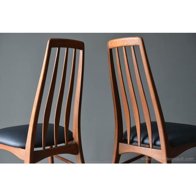 "Wood 1960s Vintage Koefoed of Denmark Walnut High Back ""Eva"" Dining Chairs - Set of 8 For Sale - Image 7 of 12"