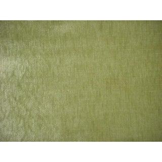 3-1/2y Scalamandre Vpsupr Supreme Citron Green Metallic Velvet Upholstery Fabric For Sale