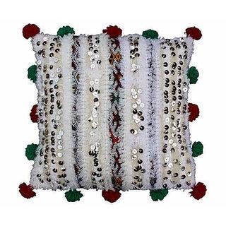 Moroccan Berber Pom-Pom Pillow II For Sale