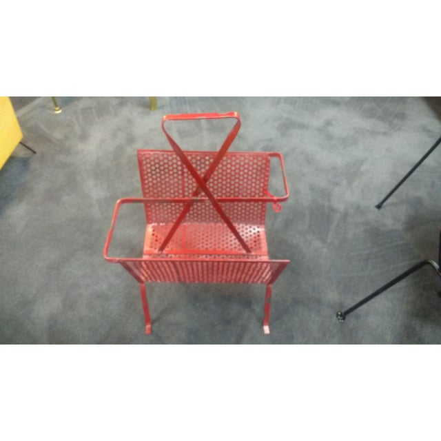 Industrial Mathieu Mategot Magazine Stand For Sale - Image 3 of 4