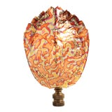 Image of Flame Gilded Turtle Shell Lamp Finial For Sale