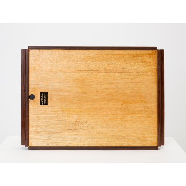 Mid-Century Modern Diamond Motif Rosewood Tray by Don Shoemaker for Señal For Sale - Image 3 of 9