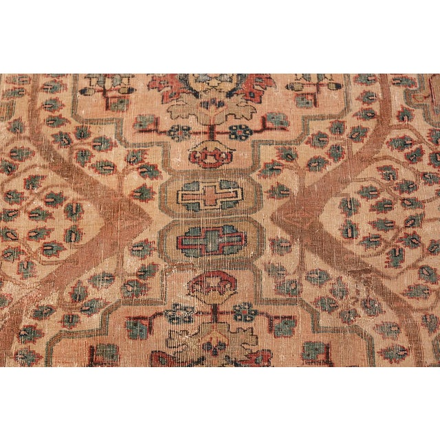 Islamic 17th Century Small Size Persian Khorassan Rug For Sale - Image 3 of 13