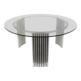 Art Deco Chrome & Stainless Steel Coffee Table For Sale