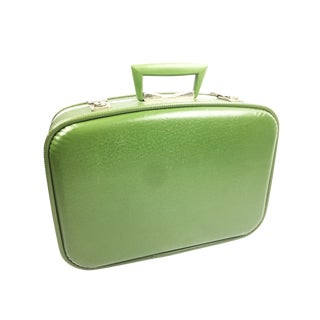 Vintage Retro Hardshell Green Carry-On Suitcase