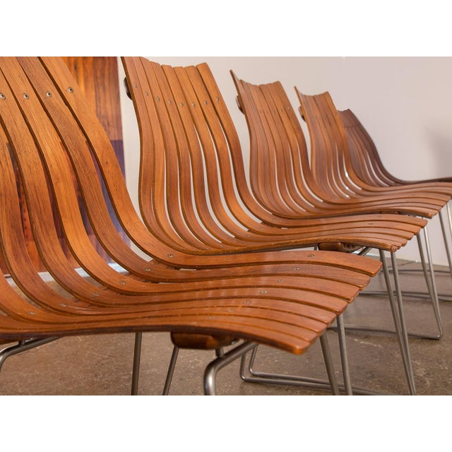 Hans Brattrud Scandia Dining Chairs - Set of 5 For Sale In New York - Image 6 of 12