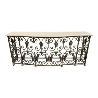 1990s Baroque Cast Iron Console For Sale