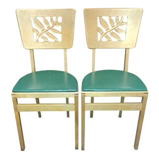 Stanmore Co. Folding Dining Chairs - a Pair For Sale