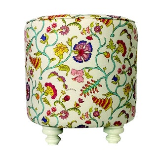 Raoul Textile Upholstered Floral Ottoman
