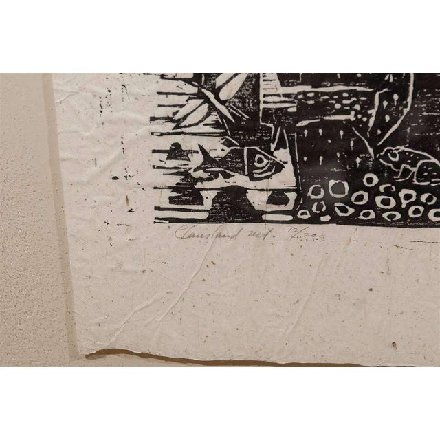Mid 20th Century Clausland Mountain, a Woodblock by Artist Jim Tanaka For Sale - Image 5 of 8