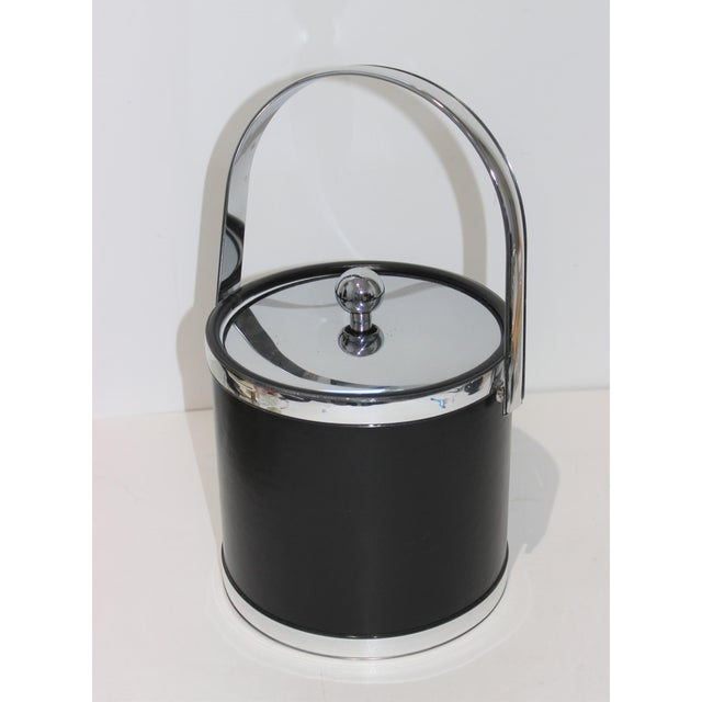 Vintage Kraftware Ice Bucket in Faux Leather For Sale - Image 13 of 13
